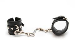 Leather Handcuffs Stock Photography