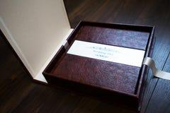 Leather handmade photobooks Royalty Free Stock Image