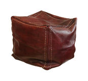 Leather hassock Stock Photo
