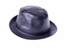 Leather Hat. Isolated photo of leather hat Royalty Free Stock Photography