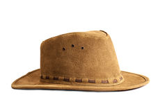Leather hat isolated. Royalty Free Stock Photos