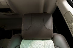 Leather headrest. Stock Images