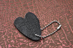 Leather heart Stock Image
