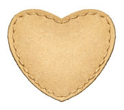 Leather heart Royalty Free Stock Photo