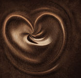 Leather heart Royalty Free Stock Photography