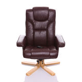 Leather heated recliner chair Stock Photo