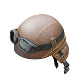 Leather helmet Royalty Free Stock Photography