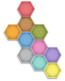 Leather hexagons Stock Photography