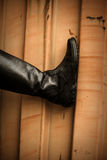Leather high boots Royalty Free Stock Image