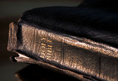 Leather holy bible Stock Photos