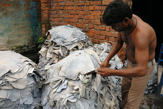 Leather industry of Kolkata Royalty Free Stock Photography