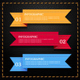 Leather infographic Royalty Free Stock Image