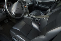 Leather interior. Beautiful leather interior of the modern car stock image