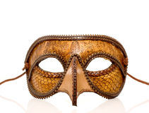 Leather Italian half mask Royalty Free Stock Image