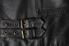 Leather jacket buckles Royalty Free Stock Image