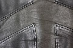 Leather jacket closeup. Leather background stock photography