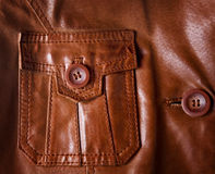 Leather jacket detail closeup Stock Photo
