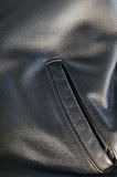 Leather jacket detail with pocket Stock Images