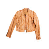 leather jacket for females Stock Image