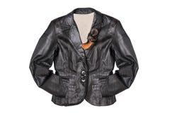 Leather jacket isolated on white background royalty free stock photos