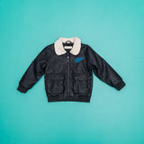 Leather jacket long sleeve Royalty Free Stock Photo