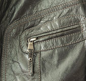 Leather jacket pocket Stock Images