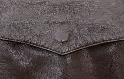 Leather jacket pocket detail Stock Photo