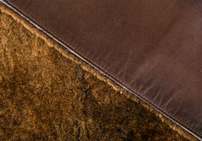 Leather jacket texture Stock Photos