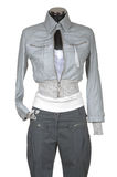 Leather jacket and trousers Stock Photos