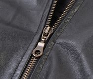 Leather jacket with zipper Royalty Free Stock Images