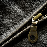 Leather Jacket Zipper Royalty Free Stock Photos