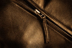 Leather Jacket Zipper Royalty Free Stock Image