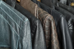 Leather jackets Royalty Free Stock Images