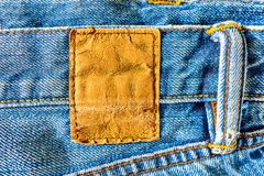 Leather jeans label royalty free stock image