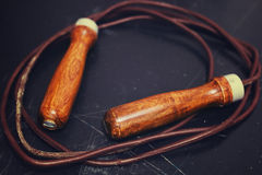 Leather jump rope Royalty Free Stock Photos