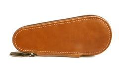 Leather key case stock photo