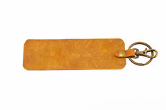 Leather key chain Stock Images