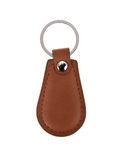 Leather key chain isolated. On white background Stock Photo