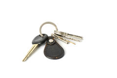 Leather key chain Royalty Free Stock Photography