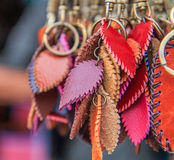 Leather key chain Royalty Free Stock Image