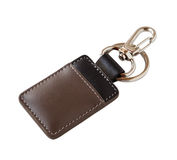 Leather key ring isolated on white background Stock Photo