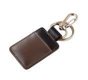 Leather key ring isolated on white background Stock Photo