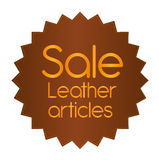 Leather label stock illustration
