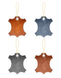 Leather Label Stock Photo