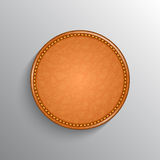 Leather label background. Realistic leather label background with place for text and shadow Stock Photos