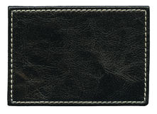 Leather label Stock Image