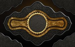 Leather label. Royalty Free Stock Images