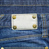 Leather label on jeans Stock Photography