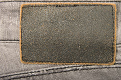 Leather label jeans Stock Image