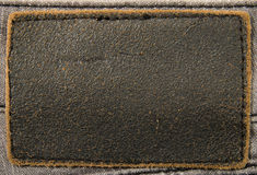 Leather label jeans. Texture. Background Stock Photo